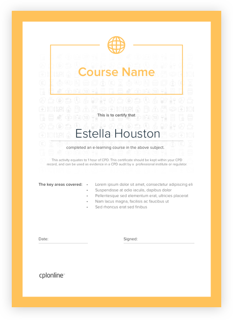 Example Course Certificate