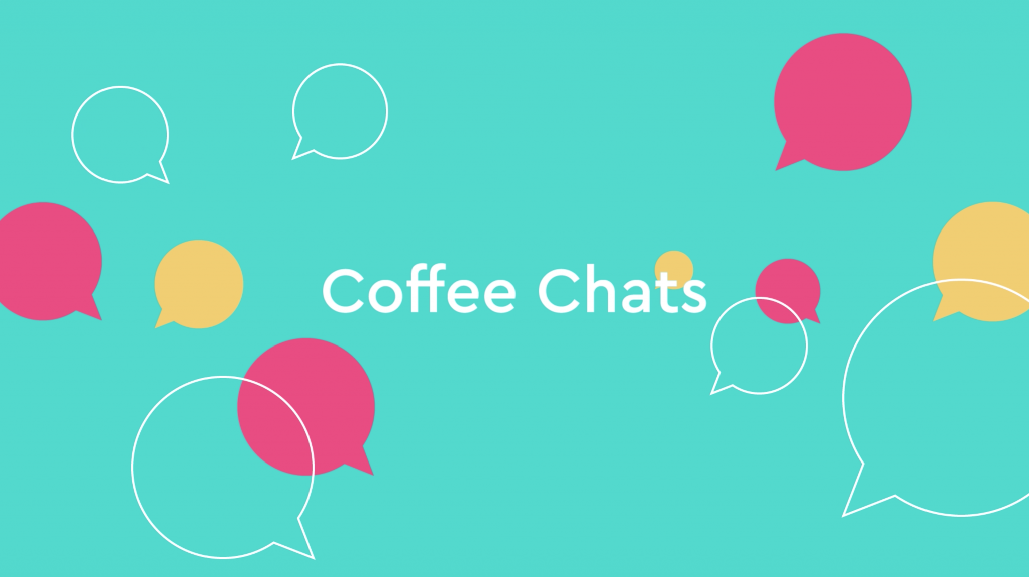Coffee Chats Video Screen